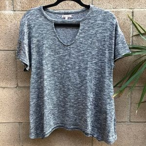 Juicy Couture Gray Knit Short Sleeve Top XS